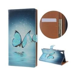 Holberg Sony Xperia E5 Läderfodral - Blå Fjäril