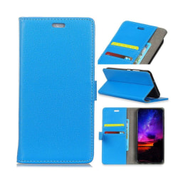 Huawei Mate 10 Pro Enfärgat skinn fodral - Blå