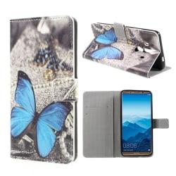 Huawei Mate 10 Pro Fodral med läckert motiv - Blå fjäril