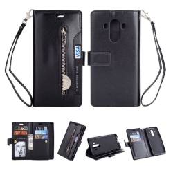 Huawei Mate 10 Pro flipfodral i PU läderfodral - Svart