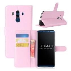 Huawei Mate 10 Pro Flipfodral i PU läderfodral - Rosa