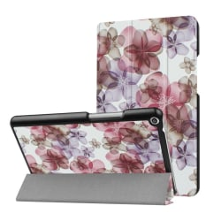 Huawei MediaPad T3 8.0 Läder fodral med unikt motiv - Blommo