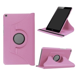 Huawei MediaPad T3 8.0 Roterbart fodral - Ljus rosa