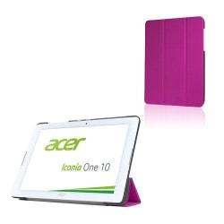 Läderfodral med Tri-fold Stativ (Lila) för Acer Iconia One 1