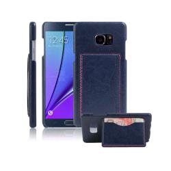 Läderskal med Kickstand för Samsung Galaxy Note 7 - Blå