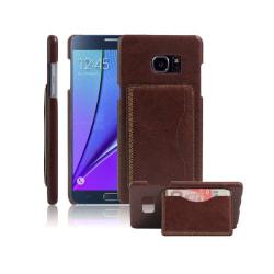 Läderskal med Kickstand för Samsung Galaxy Note 7 - Brun