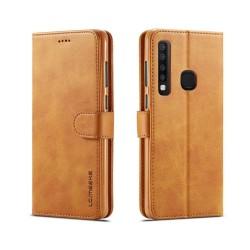 LC.IMEEKE Samsung Galaxy A9 (2018) plånboks läderfodral - Br