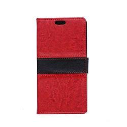Lie Sony Xperia E4g Fodral med Plånbok - Röd