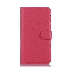 Litchi Textur Läderfodral med Stativ för LG K10 - Varm Rosa
