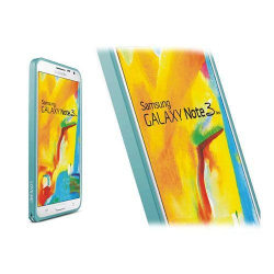 LOVE ME! (Ljusblå) Samsung Galaxy Note 3 Neo Aluminium Bumpe