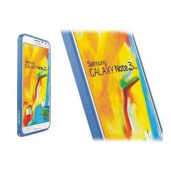 LOVE ME! (Mörkblå) Samsung Galaxy Note 3 Neo Aluminium Bumpe