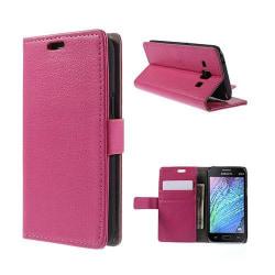 Mankell (Het Rosa) Samsung Galaxy J1 Fodral med Plånbok