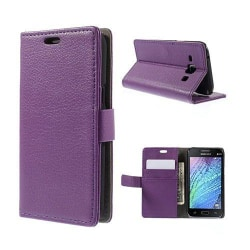 Mankell (Lila) Samsung Galaxy J1 Fodral med Plånbok