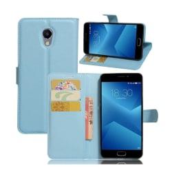 Meizu M5 Note Vikbart läder fodral - Blå