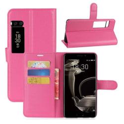 Meizu Pro 7 Plus Stilrent fodral i läder - Rosa