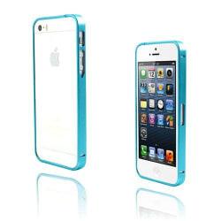 Metallix (Ljusblå) iPhone 5 / 5S Metall-Bumper