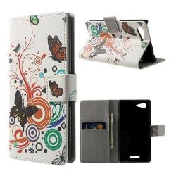 Moberg (Fjärilar & Cirklar) Sony Xperia E3 Fodral
