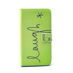 Moberg LG G4 Fodral med Plånbok - Grön Skratt i Text