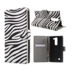 Moberg LG G4c Fodral med Plånbok - Zebra