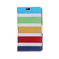 Moberg Sony Xperia E4G Fodral med Plånbok - Färgglada Ränder