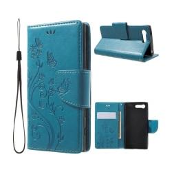 Moberg Sony Xperia X Compact Butterfly Flipfodral - Blå