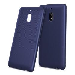 Nokia 2.1 mobilskal silikon tyg textur - Mörkblå