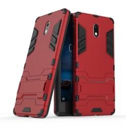 Nokia 3 Slimmat hybird skal - Röd