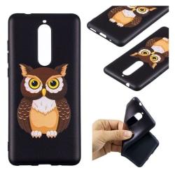 Nokia 5.1 mobilskal silikon tryckmönster - Cool uggla
