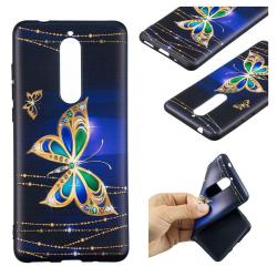 Nokia 5.1 mobilskal silikon tryckmönster - Skinande fjäril
