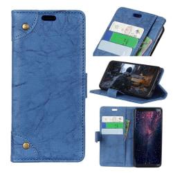 Nokia 5.1 Plus mobilfodral syntetläder silikon plånbok ståen