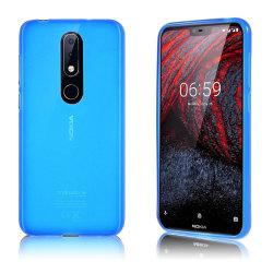 Nokia X6 mobilskal silikon matt - Blå