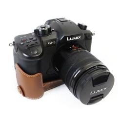 Panasonic Lumix DC-GH5 läderskydd - Brun