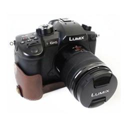 Panasonic DMC-GH5GK kameraskydd konstläder underdel - Kaffe