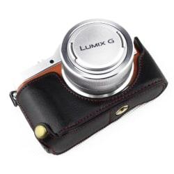 Panasonic GF7-GF8-GF9-GF10 kameraskydd underdel genuin läder