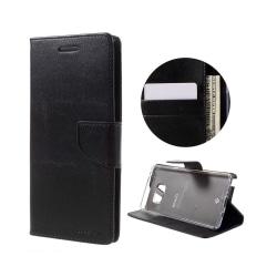 Plånboksfodral i Läder för Samsung Galaxy Note 7 - Svart