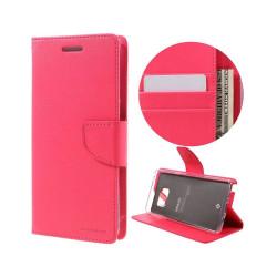 Plånboksfodral i Läder för Samsung Galaxy Note 7 - Varm Rosa