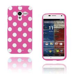 Polka Dots (Knallrosa) Motorola Moto X Skal