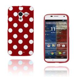 Polka Dots (Röd) Motorola Moto X Skal