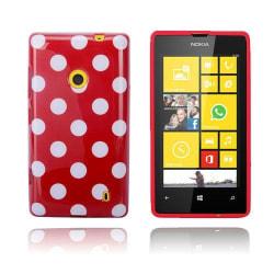 Polka Dots (Röd) Nokia Lumia 520 / 525 Skal