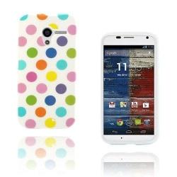 Polka Dots (Vit - Brokig) Motorola Moto X Skal