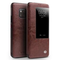 QIALINO Huawei Mate 20 Pro flipfodral i nötkinn läder - Brun