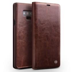 QIALINO Samsung Galaxy Note9 mobilfodral äkta läder plast ko