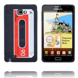 Retro Cassette Skal (Svart) Samsung Galaxy Note Silikonskal