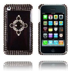 Royal Bling (Grå - Svart Sten) iPhone 3G/3GS Skal
