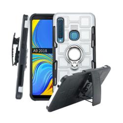 Samsung Galaxy A9 (2018) geometrisk mönster combo skal - Silv