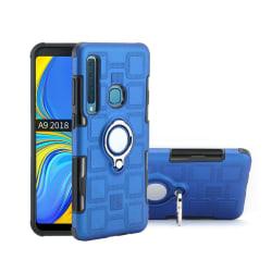 Samsung Galaxy A9 (2018) geometriskt hybrid fodral - Babyblå