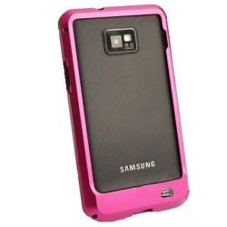 Samsung Galaxy S2 Aluminium-Bumper (Het Rosa)