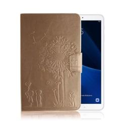 Samsung Galaxy Tab A 10.1 (2016) maskros läderfodral - Guld