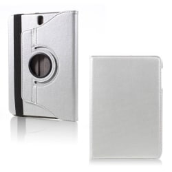 Samsung Galaxy Tab S3 roterbart stativ läderfodral - Silver