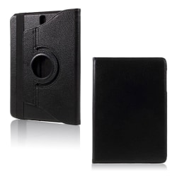 Samsung Galaxy Tab S3 roterbart stativ läderfodral - Svart